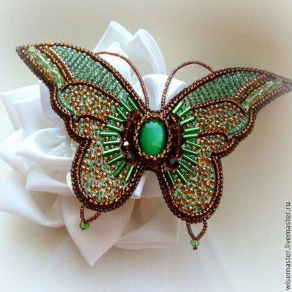 Вышивка бисер бабочка