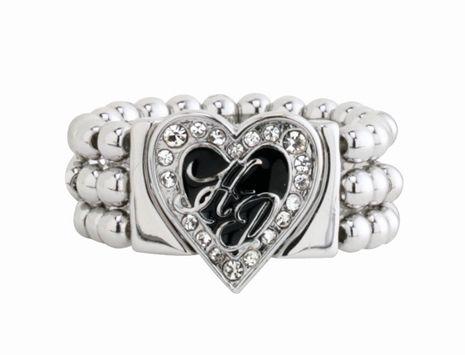 Harley-Davidson® Womens Heart Stretch Band Ring