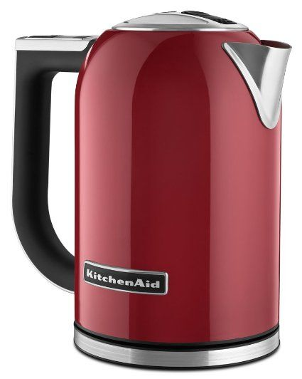 KitchenAid KEK1722ER 1.7 litros chaleira eléctrica com Display LED - Empire Red