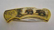 FRANKLIN MINT BLACK FOREST BOAR WILDLIFE COLLECTOR KNIFE RICK FIELDS LIMITED