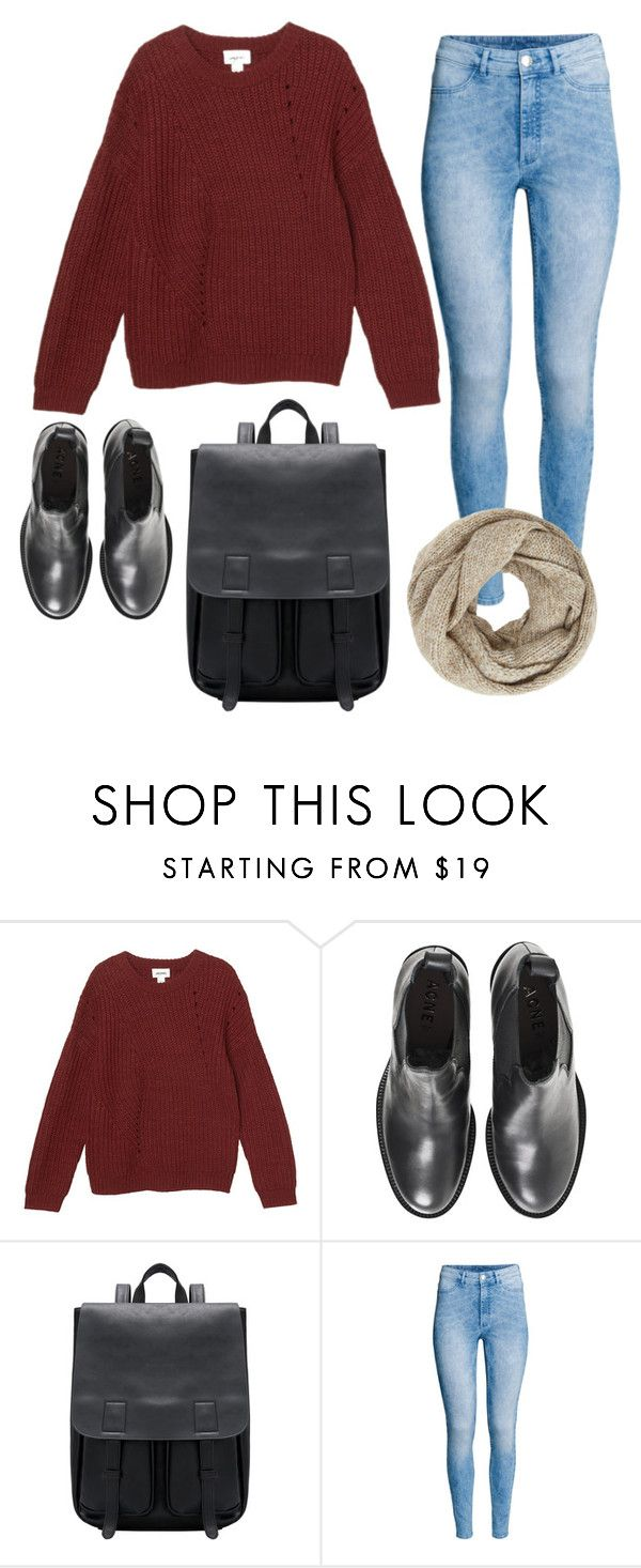 """""""Untitled #8781"""" by beatrizibelo ❤ liked on Polyvore featuring Monki, Acne Studios, H&M and John Lewis"""