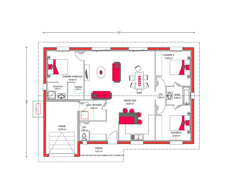 27 best Plan de maison images on Pinterest Floor plans, Future - plan de maison 120m2 plain pied