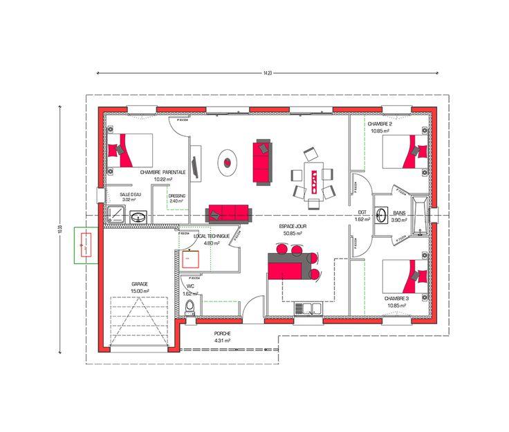 230 best images about plans de maison house plans on for Plan pour maison