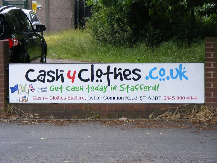 Cash 4 Clothes sponsoring Stafford Rangers www.cash4clothes.co.uk
