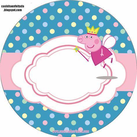 Kit Festa Peppa Pig Princesa Para Imprimir Grátis                                                                                                                                                                                 Mais