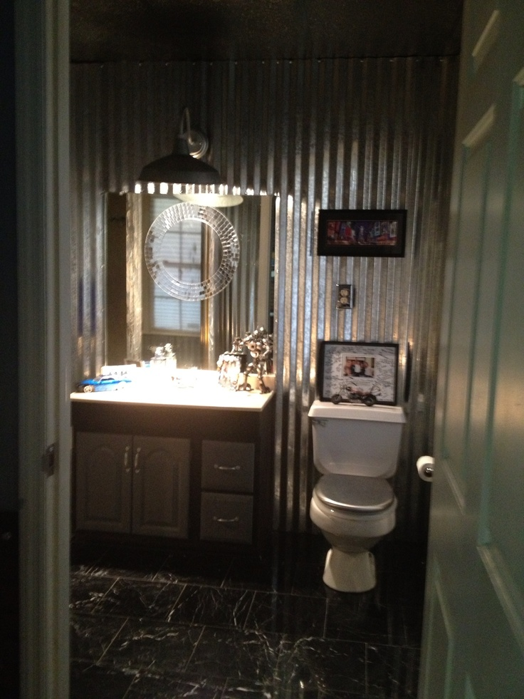 Metal Bathroom Off Game Room For The Home Pinterest