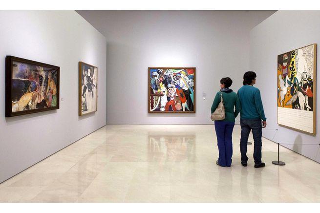 """El movimiento y la multiplicidadd en la obra de R.B.Kitaj en la exposición """"Bacon, Freud y la Escuela de Londres""""   Museo Picasso Málaga  26 Abr. 2017 17 Sep. 2017"""
