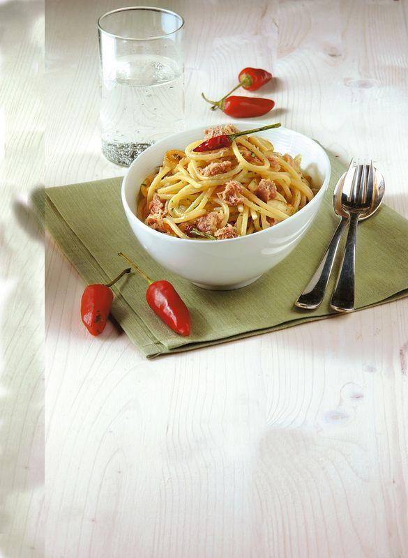 Spaghetti aglio, olio e...tonno