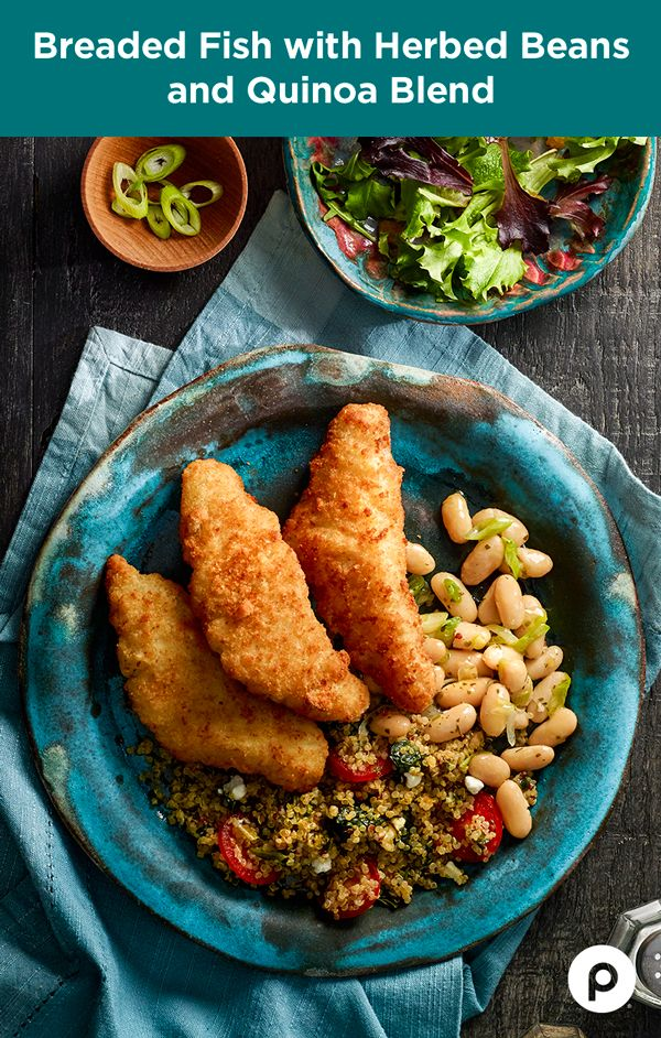 This tasty combination of breaded pollock and herbed beans has always been around, but it took the quinoa blend to bring this Publix Aprons recipe to life.