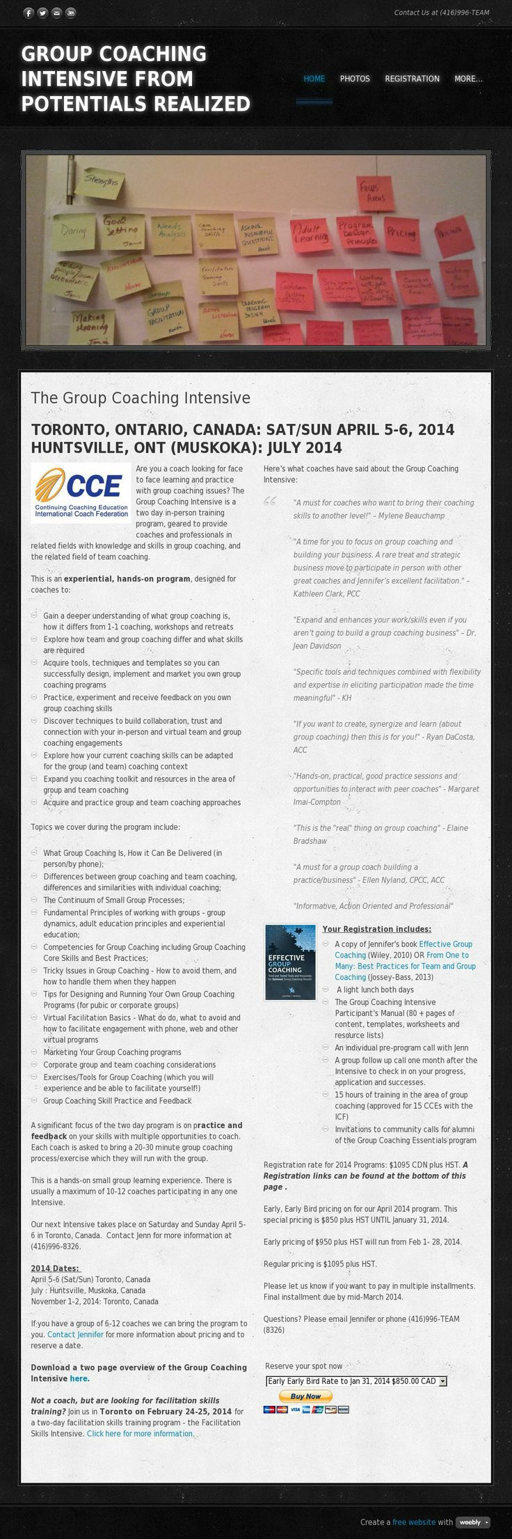 Group Coaching Intensive  - Group Coaching training for coaches from author and coach Jennifer Britton. Visit us at http://www.groupcoachingintensive.com. The website 'groupcoachingintensive.com' courtesy of @Pinstamatic (http://pinstamatic.com)