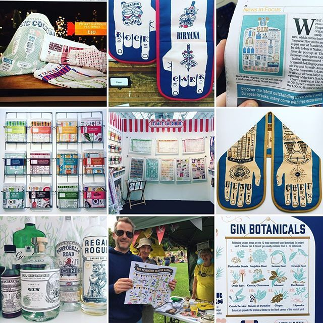 Trade fairs, Gin, Press, Phillip Schofield. Looking back on it 2017 was not so bad in our world of #teatowels & daft oven gloves. Looking forward to delving into the world of whisky, chillies & more puns and silliness to keep us entertained in 2018. Thanks to all our customers, stockists & followers, and a happy new year to all x #bestnine2017 #teatowels #dishtowel #ovengloves #rockcake #headchef #infographic #gin #beefriendly #topdrawer #topdrawerlondon #eveningstandard…