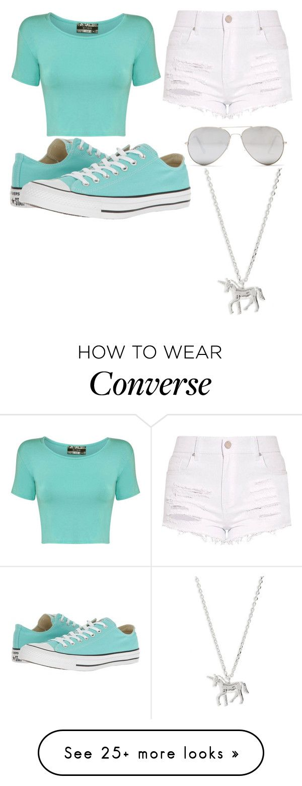 """job in my"" by hannah-graves on Polyvore featuring Pilot, Converse, Sunny Rebel and Estella Bartlett"