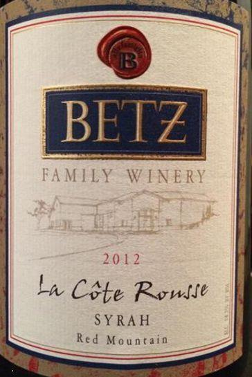 2012 Betz Family Syrah La Côte Rousse