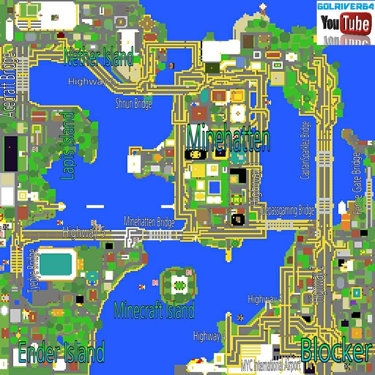 Map Minecraft PE, PS3, Xbox, PC :: Golriver64