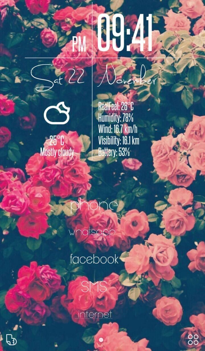 [Homepack Buzz] Check out this awesome homescreen! Braulio Alvarez | ;) floral