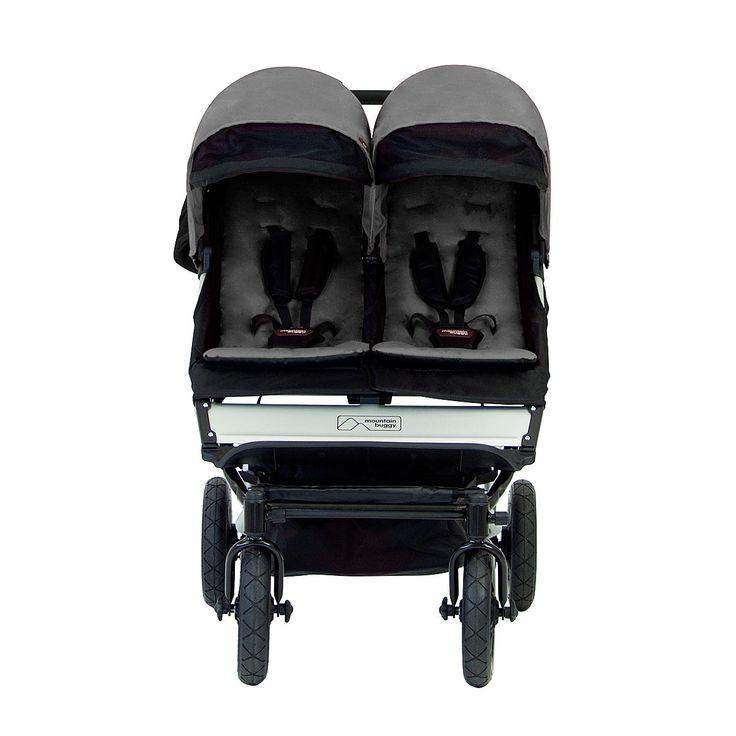 mountain buggy duet 2.5 all terrain compact double stroller front view flint