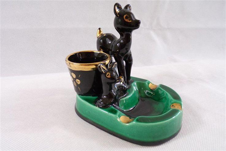 Cendrier porte cigarettes Bambi en ceramique de Vallauris France / deco vintage / disney / deco retro / vintage france / vintagefr / de la boutique decobrock sur Etsy