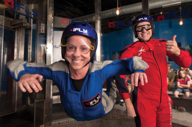 Orlando Indoor Skydiving for First-Time Flyers Feel the thrill of skydiving without jumping out of an airplane. It's true! Head to iFLY Orlando, a premier indoor skydiving facility powered by a state-of-the-art vertical wind tunnel.  After a training session, you'll experience free-fall conditions with the help of an instructor. No experience is necessary, and afterward, you can take home a personalized flight certificate.    Arrive at iFLY Orl...