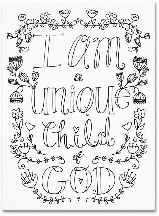 Elizabeth Caldwell 'Unique Child of God' Canvas Art - 14 x ...