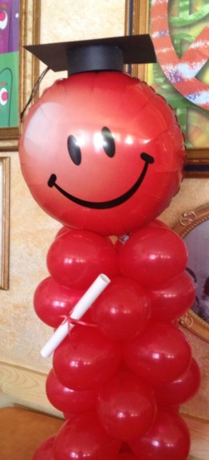 Graduation balloon decoration graduation pinterest for Balloon decoration ideas for graduation
