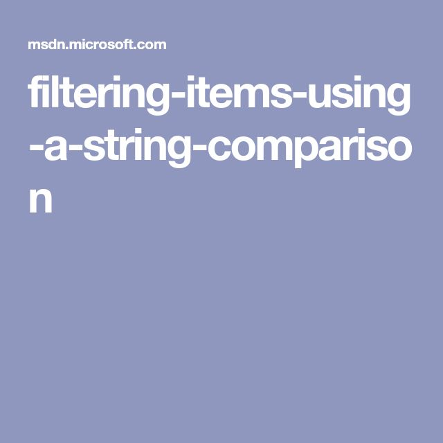 filtering-items-using-a-string-comparison