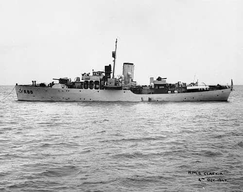 HMS Clarkia, Flower class corvette.