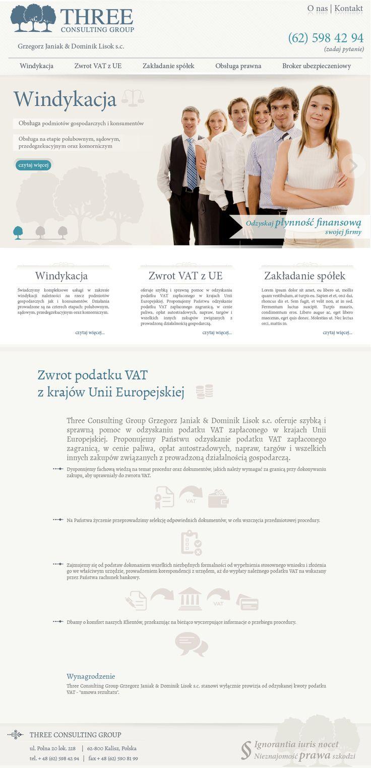 Website for lawyers | Design: www.pinkelephant.pl /web design /layout /portfolio /web /design