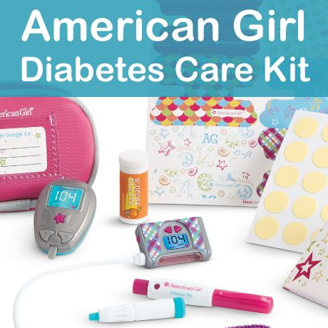 American Girl Diabetes Care Kit {and Interview!}  American Girl launched a Diabetes Care Kit on January 1, 2016 in stores and online that includes and insulin pump and glucose meter so that kids with type 1 diabetes can role play with their dolls.