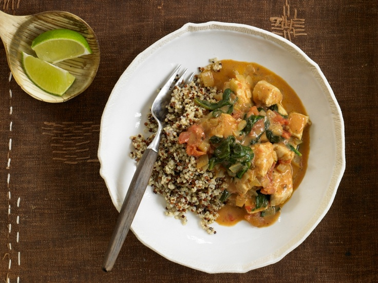 Curry Chicken with coconut. Delicious Phase 3 dinner with wild rice or quinoa. #FastMetabolismDiet