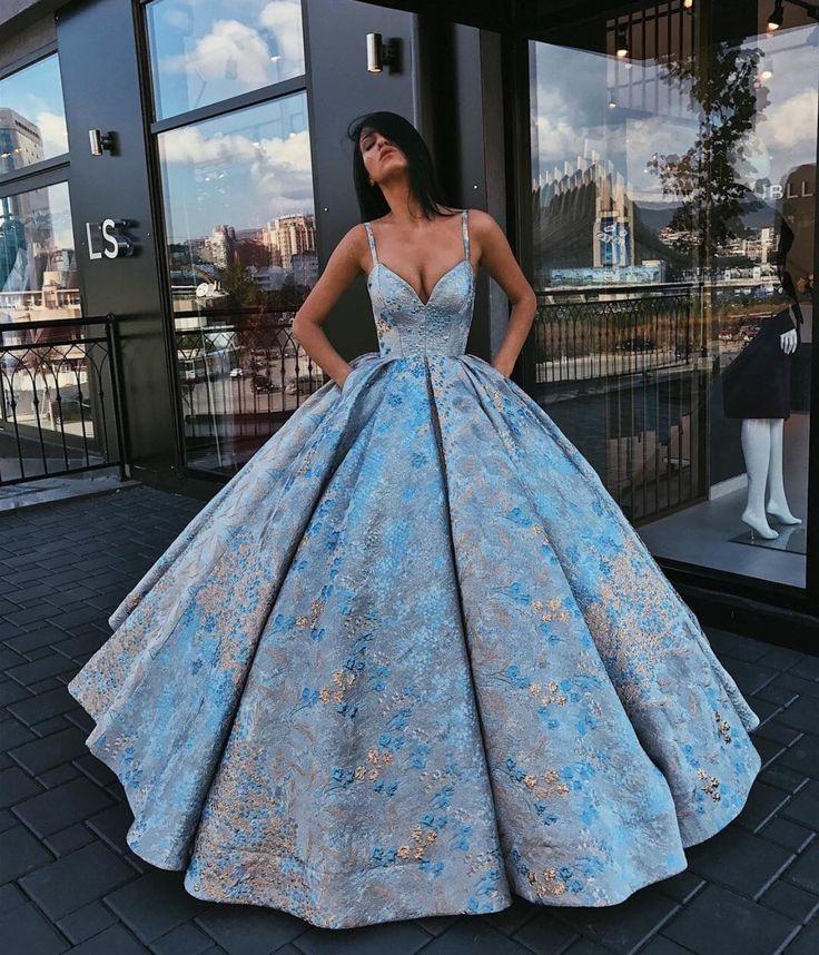 Beautiful blue ballgown