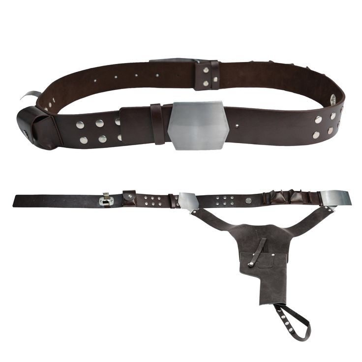 This unique and original custom-made replica Han Solo Belt and holster is exactly as worn in the films.  The detail of this replica belt is excellent. The perfect belt for any blaster.  Waist Sizes:  M - 32-34 inches L - 36-38 inches XL - 40-42 inches