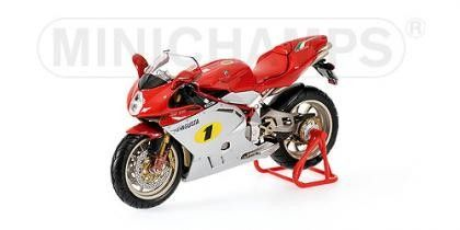 MV AGUSTA F4 AGO SILVER / RED 2004 - Motorcycles - Different models - Die-cast | Hobbyland Scale model motorcycle made of metal / Die-cast / in 1:12 scale manufactured by Minichamps.