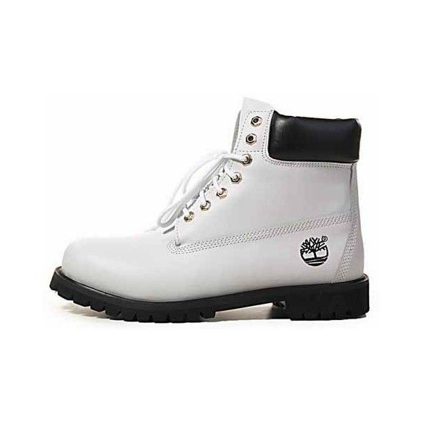 Botas Timberland Hombres 6 Inch Silver White ($102) ❤ liked on Polyvore featuring shoes, boots, timberlands, zapatos, silver boots, white boots, water proof boots, water proof shoes and cushioned shoes