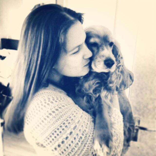 Me and my lovely dog pebbles