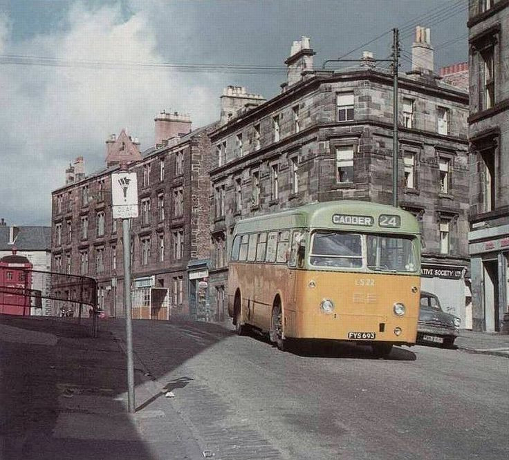 RUCHILL Top of Sandbank Street, 1960. Like this old bus Cadder I wonder if any of you got on this bus lol