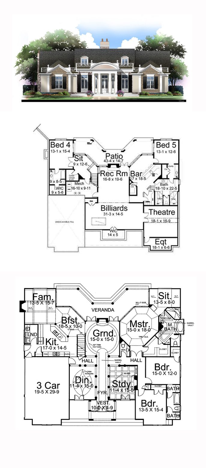 6768 best house plans images on pinterest house floor plans