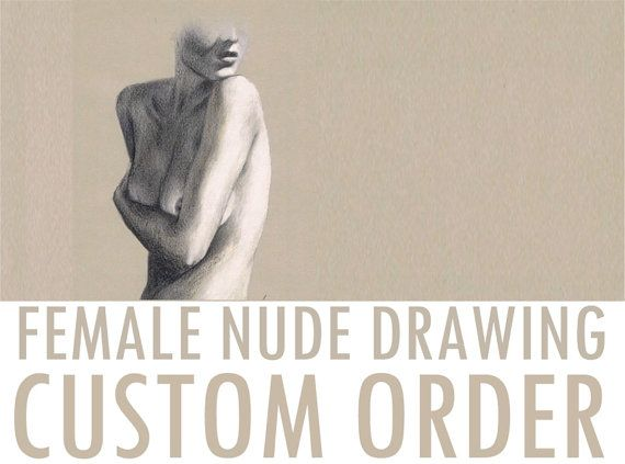 Let me draw female nude from your favorite photo  by NudeSpirit