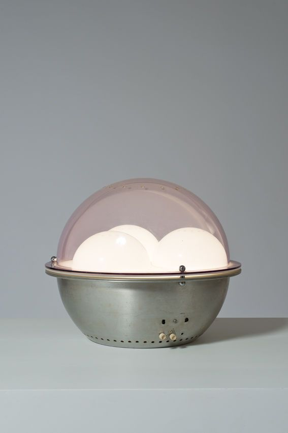 Colombini & Guzzetti; Plexiglass and Aluminum 'Psyco' Table Lamp for Lamberty, 1971.