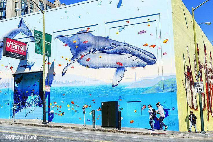 O'farrell Theatre Color Walls The Tenderloin, San Francisco By Mitchell Funk…