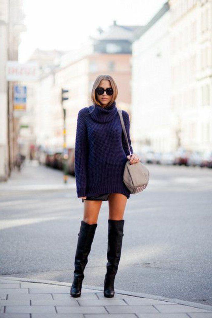bottes cavalières noires pour les filles modernes