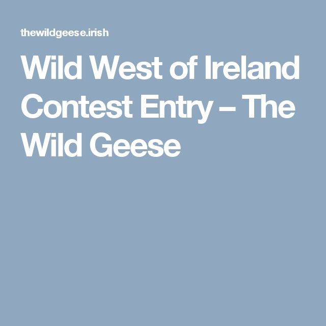 Wild West of Ireland Contest Entry – The Wild Geese