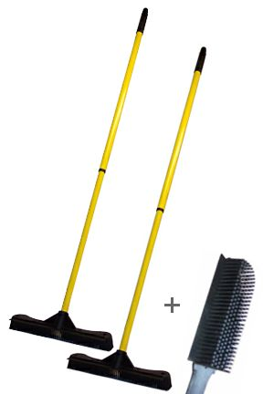 Broom and  Brush Combo (12 in.): A Money Saving Package. Get 2 or 3 Products For One Low Price.