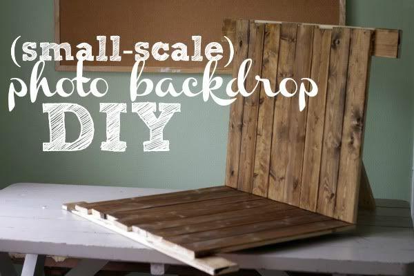 genius idea for a small scale backdrop to use in product photography!