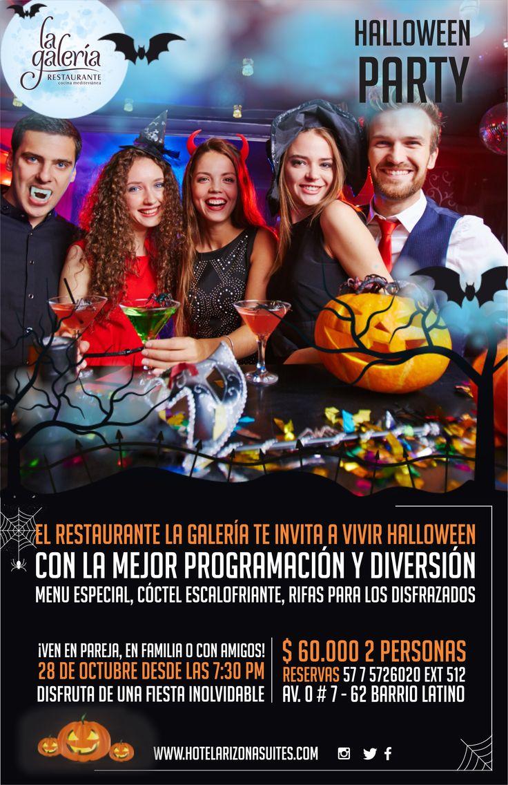 El Restaurante la Galería te invita este sábado 28 de #Octubre al #HalloweenParty vive la mejor Programación y Diversión en #Pareja, #Familia y #Amigos Disfruta Menú especial, Cóctel Escalofriante y Rifas a los mejores disfraces. Reserva ya al 57 7 5726020 Ext 512  Plan $60.000 2 personas  #Cúcuta #Colombia #FiestadeDisfraces