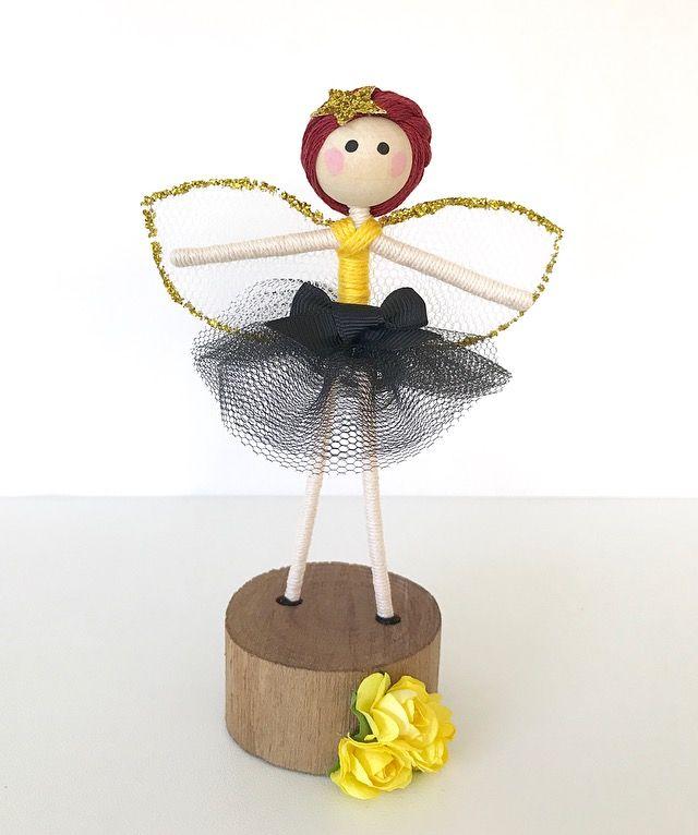 Fairy, Fairy Doll, Ballerina, Girls Room Decor, Handmade Decor