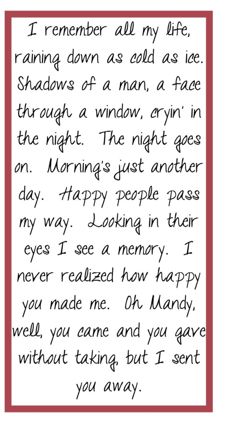 Barry Manilow - Mandy  Song Lyircs, music, quotes