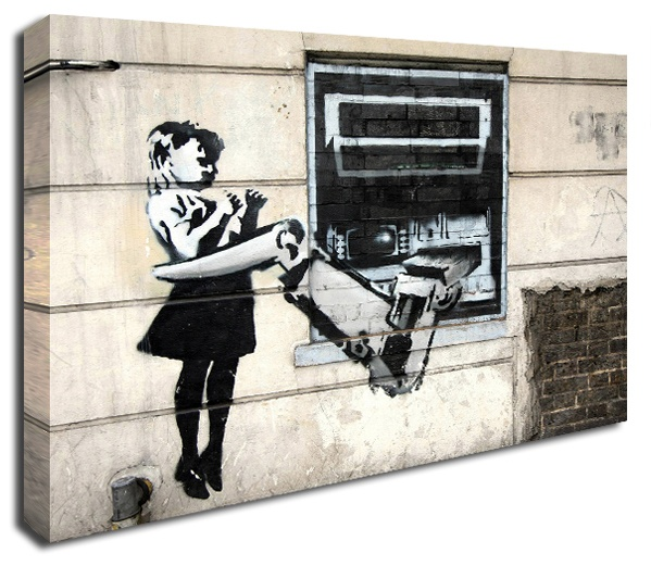 Cash Machine Grab banksy canvas print http://www.simplycanvasart.co.uk/products/CASH-MACHINE-GRAB-478057.aspx