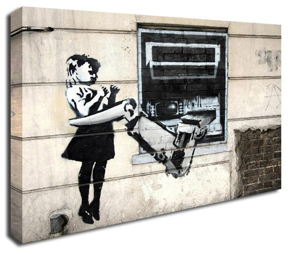 Cash Machine Grab banksy canvas print http://www.simplycanvasart.co.uk/products/CASH-MACHINE-GRAB-478057.aspx