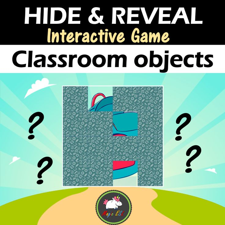 Classroom objects HIDE & REAVEAL GAME