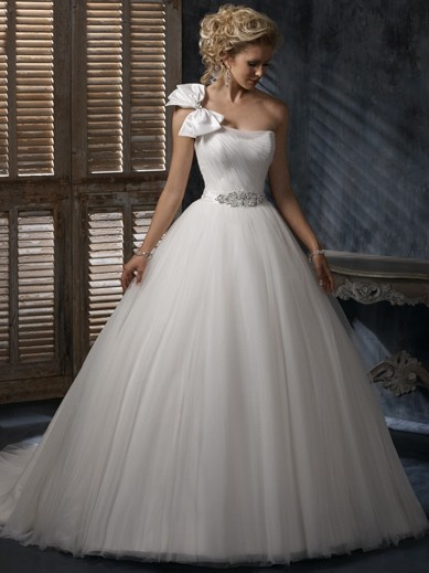 Wedding Dress Style Annika Ball Gown Straight Neckline Beading Tulle OSW2071 $175